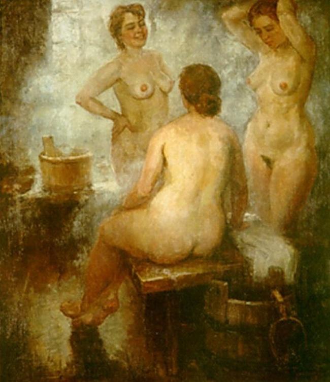 эта в старину барин в русской бане с девками так