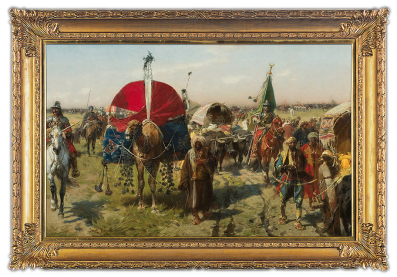 Return-with-spoils---after-battle-at-Vienna