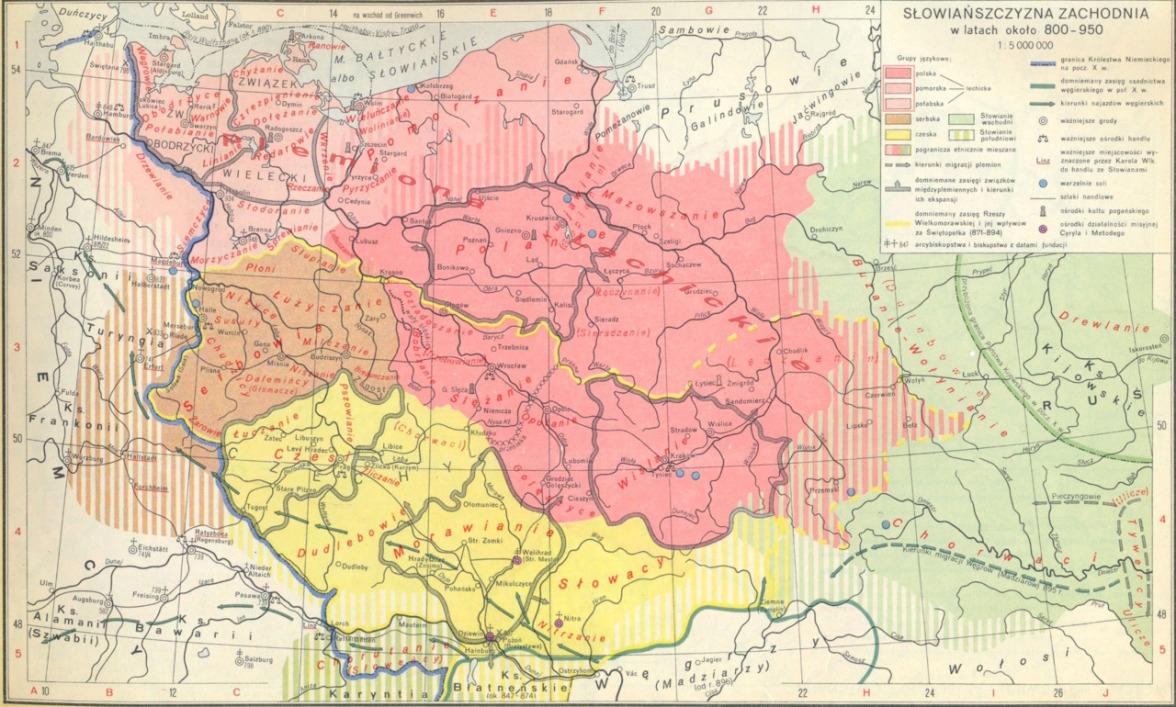 800-950 słowiańszczyzna zachodnia
