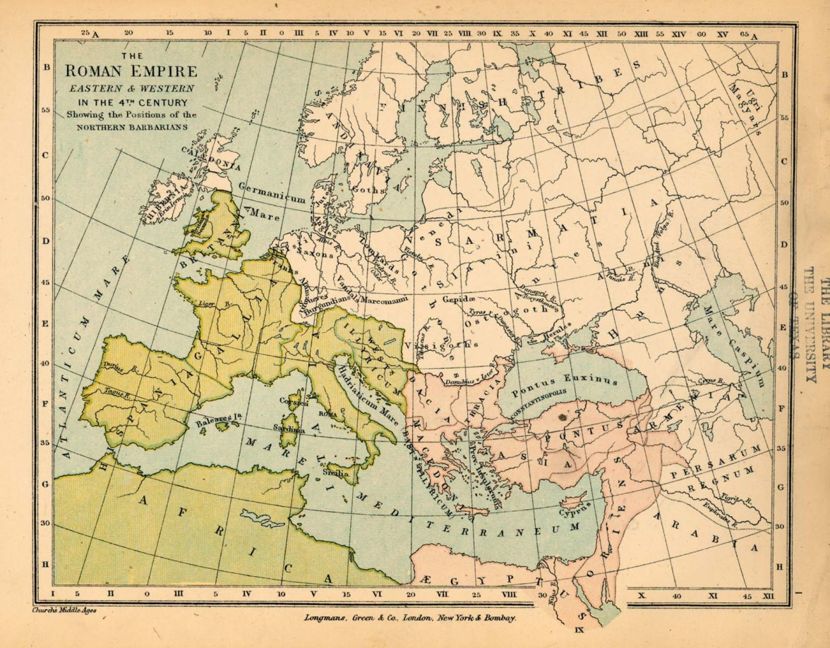 Cesarstwo Wschodniorzymskie i Zachodniorzymskie w 4 wieku