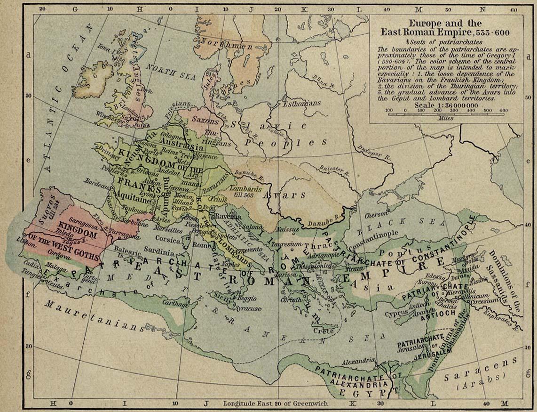 East Roman Empire 533-600