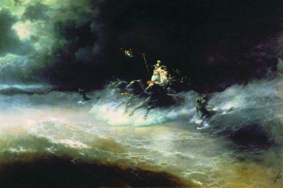Ivan Aivazovsky Travel of Poseidon by sea