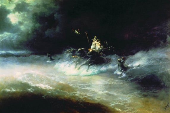 Ivan Aivazovsky Travel of Poseidon by sea