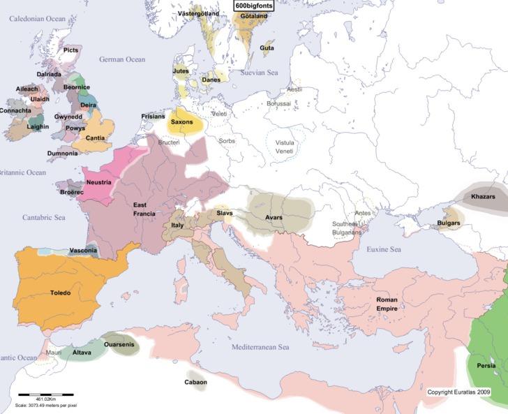 Słowianie 600 rok AD