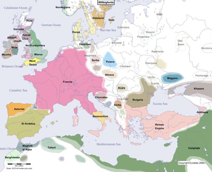 Słowianie 800 rok AD