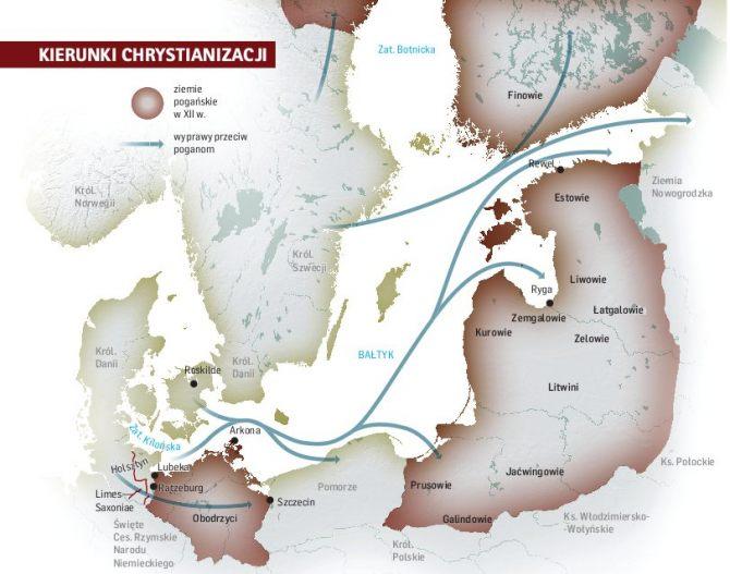 Kierunki chrystianizacji mordów