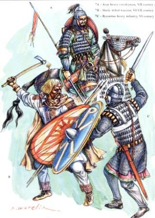 Awarski jeździec i słowiański wojownik