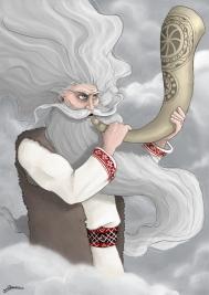 Fijns-Flins -Władca Czterech Wichrów, Pan Wichrów, Wiłchmur, Jastra, Jastrzybóg, Jastrybog, Jaster, Uster, Sterbog, Starbóg, Strabag, Stryboh, Strżiboh, Striboh.