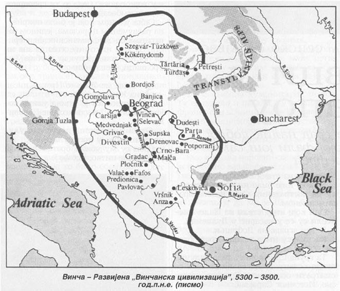 Vinkańska cywilizacja 5300 - 3500 B.C.
