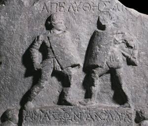 Dwie gladiatorki o imieniach Amazonia and Achillea