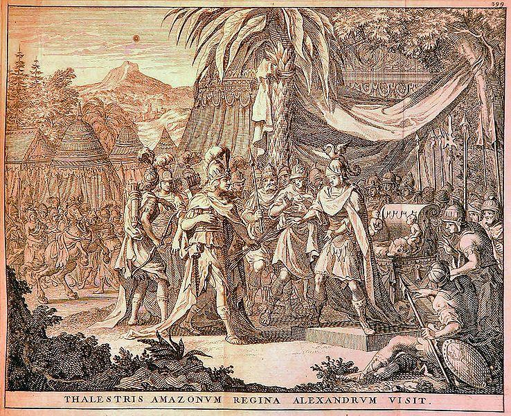 Królowa Amazonek odwiedza Aleksandra