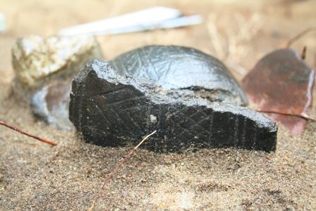 Charakterystyczny fragment naczynia Pucharów Dzwonowatych odnaleziony w Supraślu